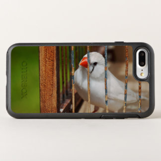 White Zebra Finch in Cage OtterBox Symmetry iPhone 8 Plus/7 Plus Case