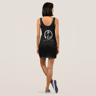 White zen circle • Kanji symbol for peace Sleeveless Dress