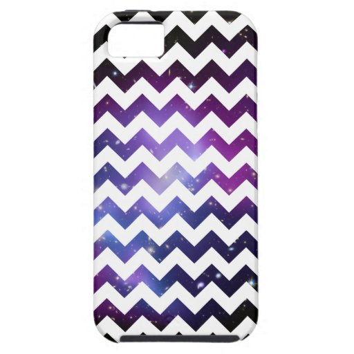 White Zigzag Purple Galaxy Cluster Case-Mate Case iPhone 5 Cover