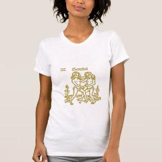 White  Zodiac Gemini  t-shirt