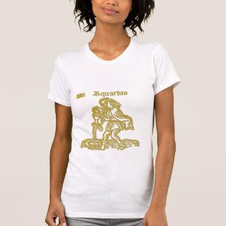White Zodiac Sign Aquarius  t-shirt