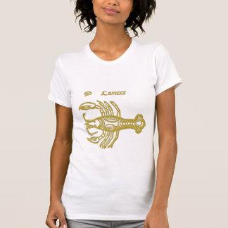White  Zodiac sign Cancer  t-shirt