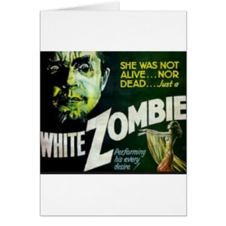 White Zombie Card