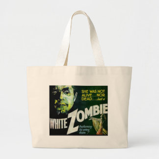 White Zombie Large Tote Bag