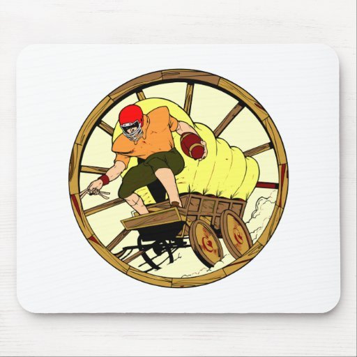 Whitebb Football Old West Wagon Mouse Mat