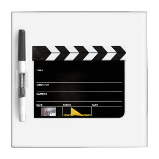 Whiteboard Clapperboard Dry Erase White Board