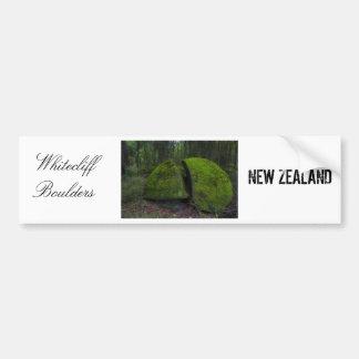 Whitecliff boulders, New Zealand Forest Scene Bumper Sticker