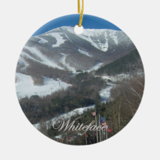 Whiteface Mountain Round Ornament