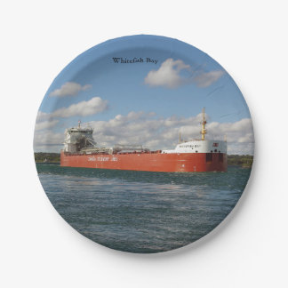 Whitefish Bay paper plate
