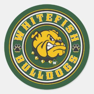 Whitefish Bulldogs Circle Classic Round Sticker