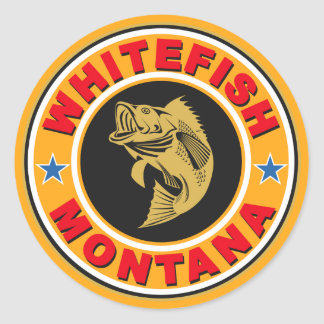 Whitefish Gold Circle Classic Round Sticker
