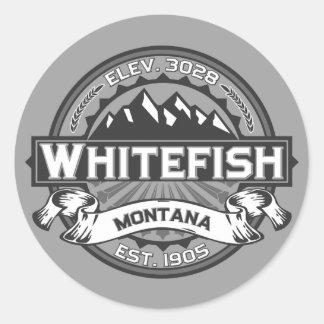 Whitefish Grey Classic Round Sticker
