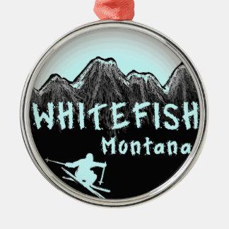Whitefish Montana artistic skier Metal Ornament