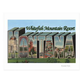 Whitefish Mountain Resort, Montana Postcard
