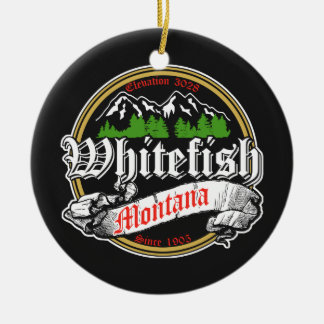 Whitefish Old Circle Ceramic Ornament