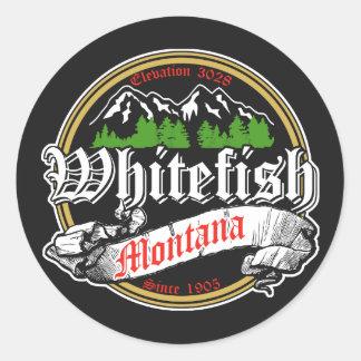 Whitefish Old Circle Classic Round Sticker