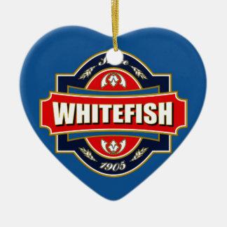 Whitefish Old Label Ceramic Ornament
