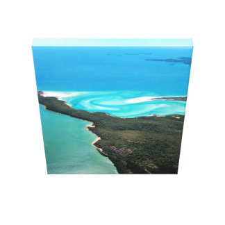 Whitehaven Beach's Hill Inlet Sideview Canvas Print