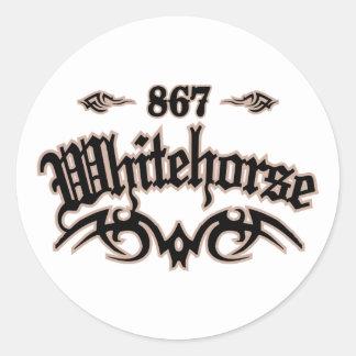 Whitehorse 867 classic round sticker
