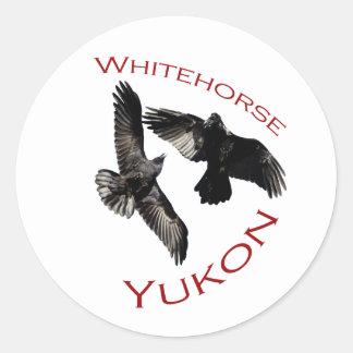 Whitehorse, Yukon Classic Round Sticker