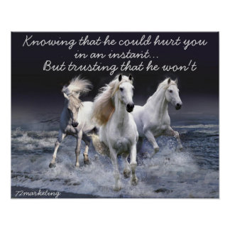 WhiteHorses knowing he could hurt you poster