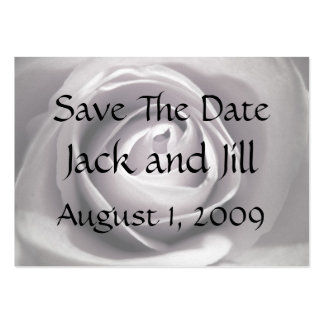 Whiteness, Save The Date Business Card Templates
