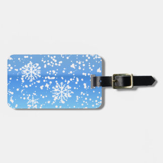 whiteout blue luggage tag