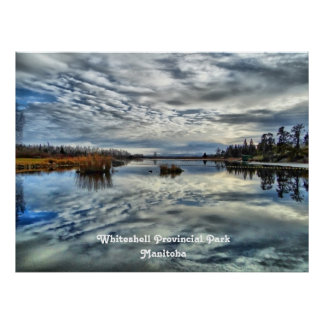 Whiteshell Autumn Reflections Poster Print