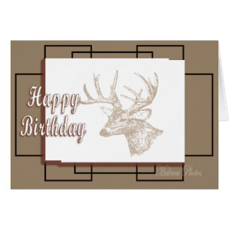 Whitetail Bday-customize Greeting Cards