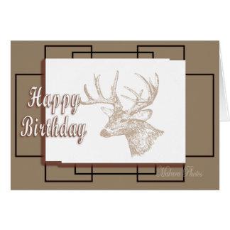 Whitetail Bday-customize Greeting Card