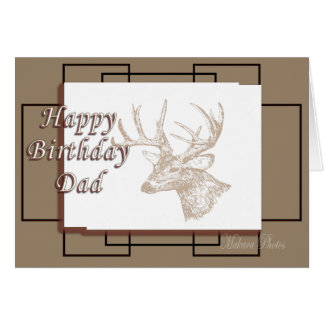 Whitetail Bday for Dad Greeting Card