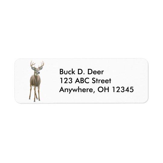 Whitetail Buck Deer Label