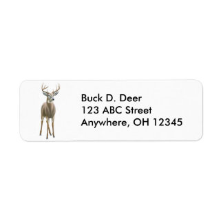 Whitetail Buck Deer Label Return Address Label
