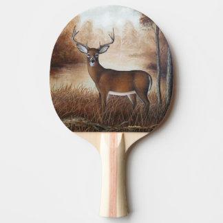 Whitetail Buck Ping Pong Paddle
