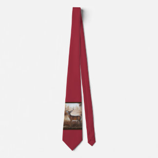 Whitetail Buck Tie