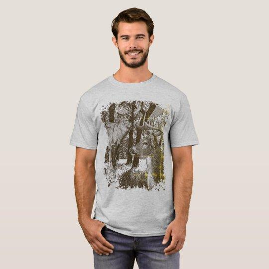 WhiteTail Deer,  Alert Bucks, T-Shirt