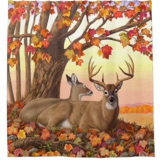 Whitetail Deer Autumn Maple Tree