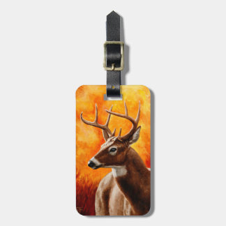 Whitetail Deer Buck Hunting Luggage Tag