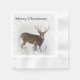 Whitetail deer disposable napkins