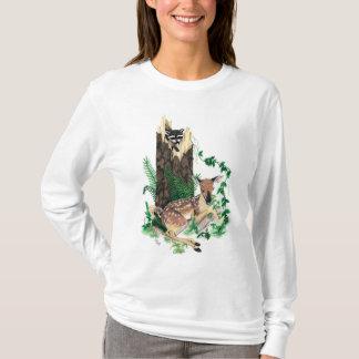 Whitetail Deer Fawn and Racoon Hoodie / Sweatshirt
