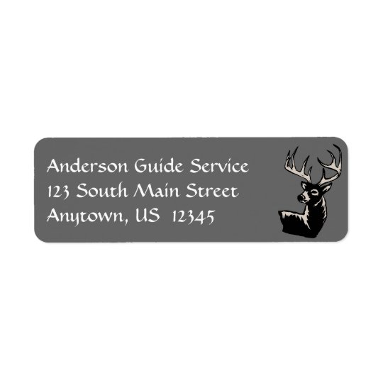 Whitetail Deer Illustration Return Address Label