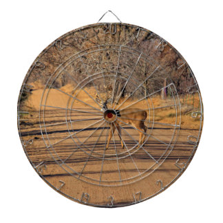Whitetail Deer in a road  DART BOARD