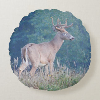Whitetail Deer Meadow (Profile) Pillow