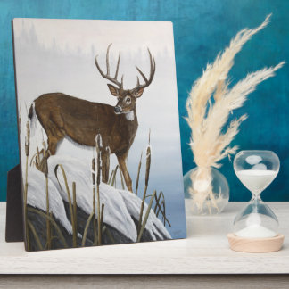 Whitetail deer plaque