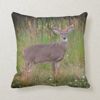 Whitetail Deer Portrait Pillow