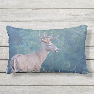 Whitetail Deer Profile in Field Lumbar Pillow