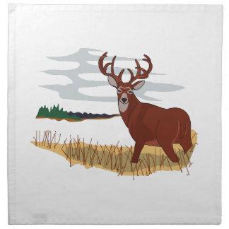 Whitetail Deer Scene Printed Napkins