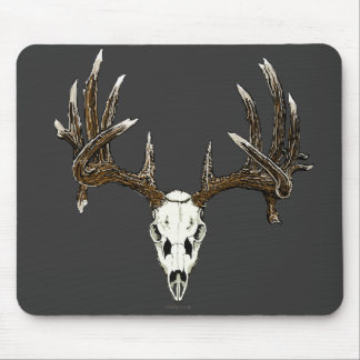 Whitetail deer skull 1 mouse pad