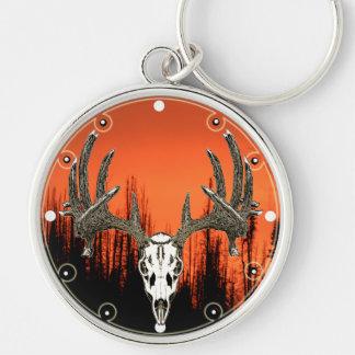 Whitetail deer skull keychain