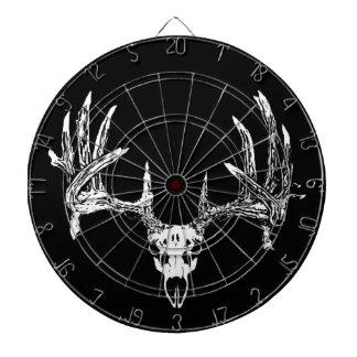 Whitetail deer skull w dartboard
